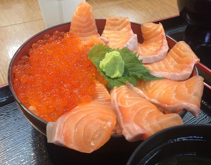 サーモン&いくら丼