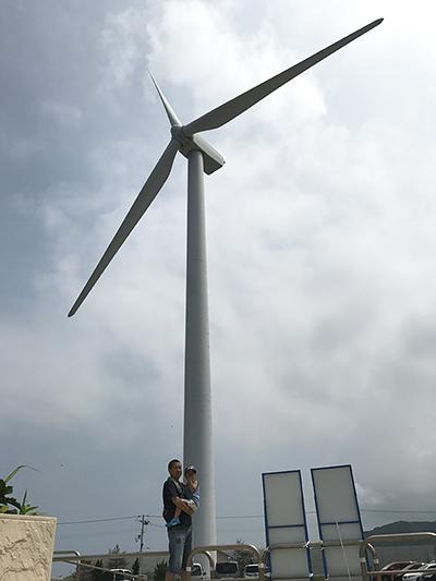 ここにも大きな風車が1つ