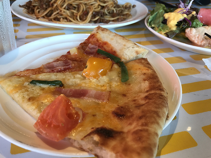 ピザも美味しかった