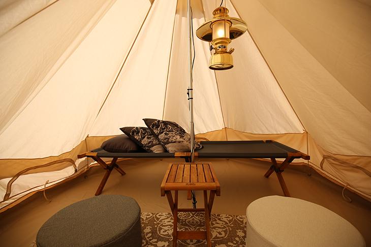 テントの中もオシャレ