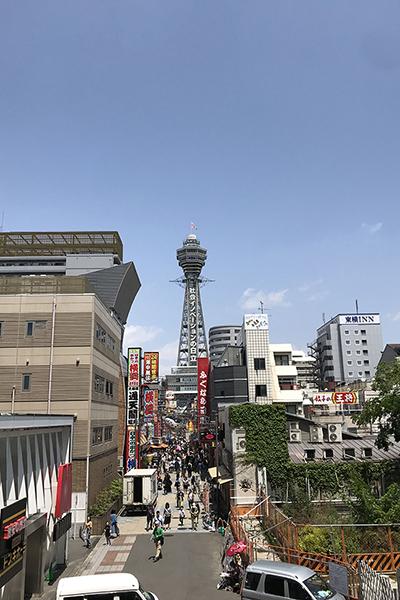 スパワールドの建物から見た風景